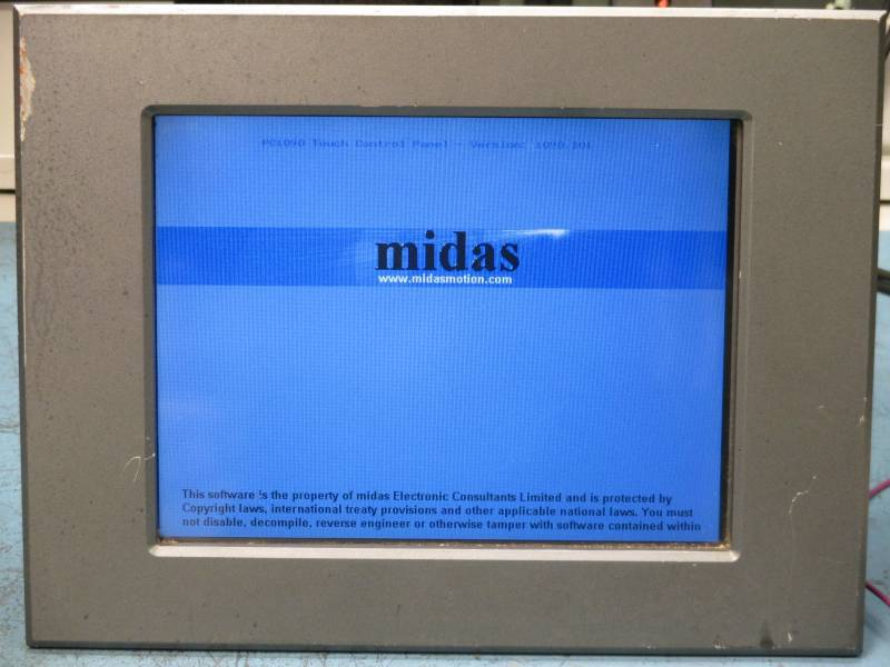 Midas Touch Screen Repaired